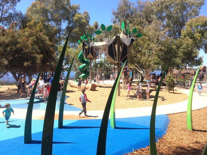 This Playground Has So Many Play Features Big And Small It Was Hard To Know Where Start The Kids Were Firstly Drawn Tall Sky Walk With