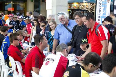 The 2012 V8 Supercar Championship drivers signing in Perth