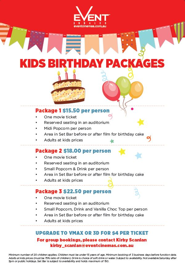 Hold Your Next Birthday Party At Local Event Cinema