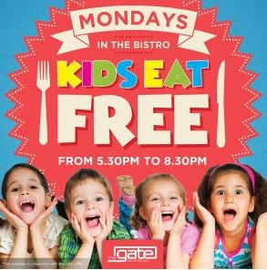 the gate bar bistro success mondays two free kids